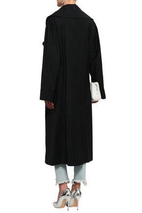 MAISON MARGIELA Double-breasted pinstriped virgin wool coat