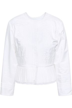 MAISON MARGIELA Pleated silk jacket