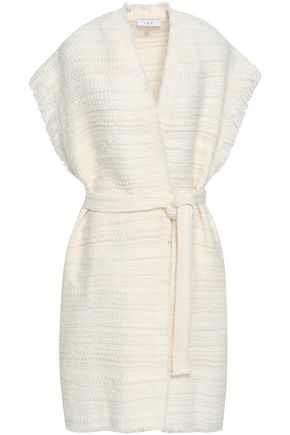 IRO Belted fringe-trimmed woven cardigan