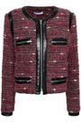 IRO Leather-trimmed bouclé jacket