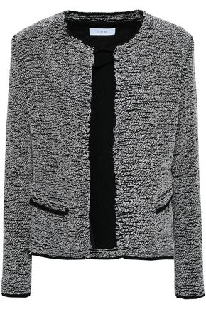 IRO Fringed cotton-blend bouclé-tweed jacket