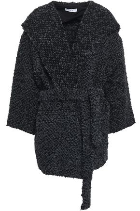 IRO Belted bouclé hooded coat