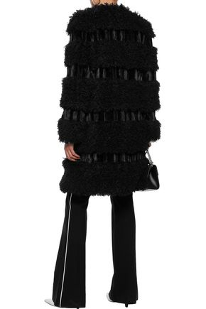 ANNA SUI Paneled faux fur coat