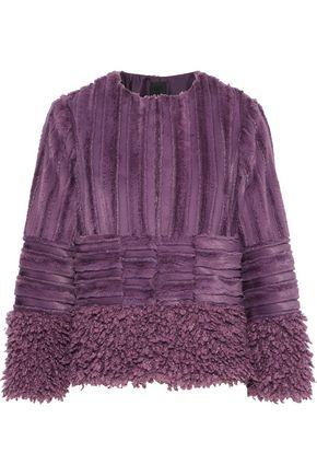 ANNA SUI Paneled faux fur jacket