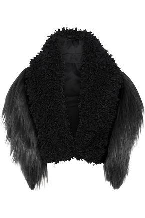 ANNA SUI Paneled faux fur bolero