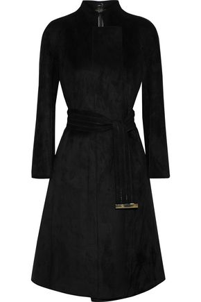 GIORGIO ARMANI Belted faux suede coat