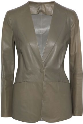 GIORGIO ARMANI Leather blazer