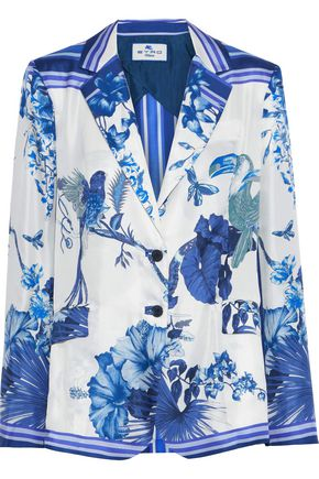 ETRO Printed silk-satin twill blazer