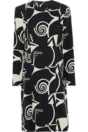 ETRO Printed wool-crepe coat