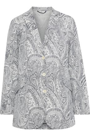 ETRO Printed cotton, silk and linen-blend blazer
