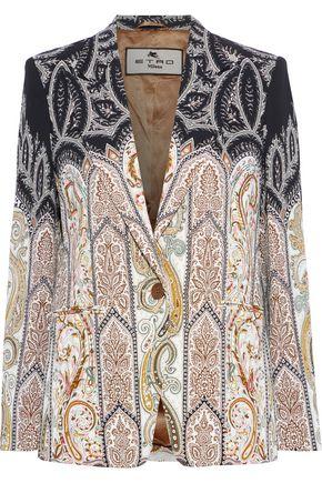 ETRO Printed stretch-cady blazer