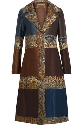 ETRO Patchwork jacquard and matelassé coat