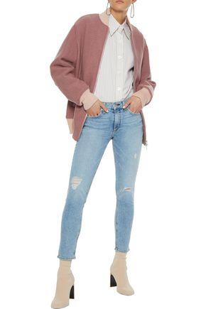 RAG & BONE Elle felted wool-bouclé bomber jacket