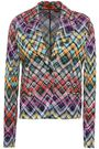 MISSONI Checked crochet-knit blazer