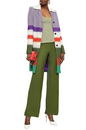MISSONI Striped crochet-knit coat