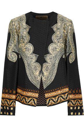ETRO Printed silk-blend jacquard jacket