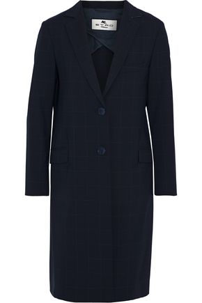 ETRO Checked wool-blend coat