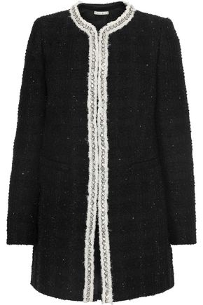 ALICE + OLIVIA Andreas embellished metallic tweed jacket
