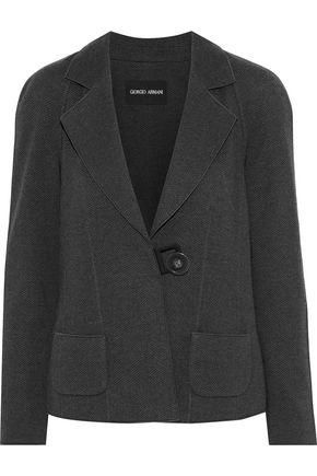 GIORGIO ARMANI Herringbone wool blazer