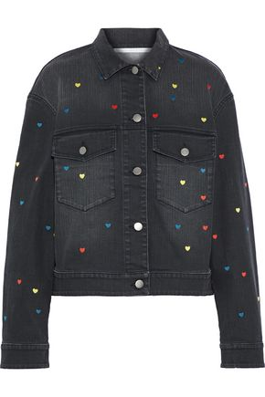STELLA McCARTNEY Embroidered faded denim jacket