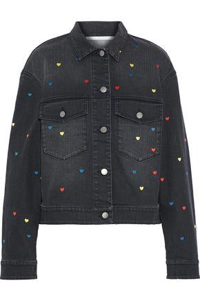 STELLA McCARTNEY Embroidered faded denim jacket
