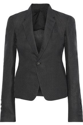 RICK OWENS Paper-blend cloqué blazer