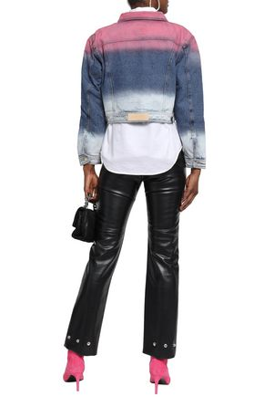 EACH X OTHER Cropped dégradé denim jacket