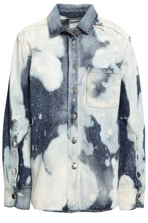 EACH X OTHER Frayed bleached denim shirt