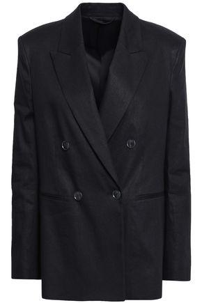 FILIPPA K Double-breasted linen-blend blazer