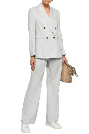 FILIPPA K Double-breasted linen-blend blazer