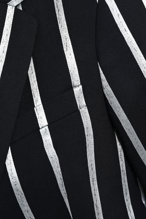 EACH X OTHER Metallic striped wool-blend blazer