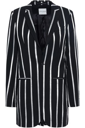 EACH X OTHER Metallic striped wool-blend blazer