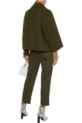 ELIE TAHARI Double-breasted wool-felt coat