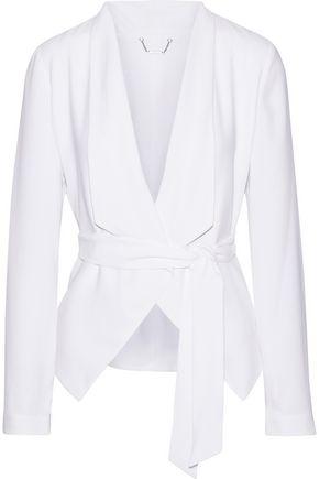 ELIE TAHARI Jenn crepe wrap jacket