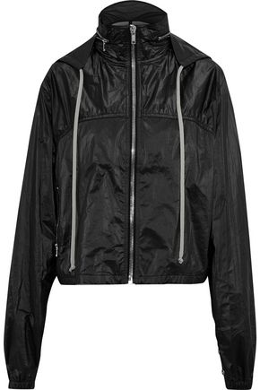 RICK OWENS Shell hooded bomber jacket