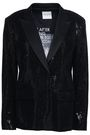 EACH X OTHER Satin-trimmed sequined stretch-knit blazer