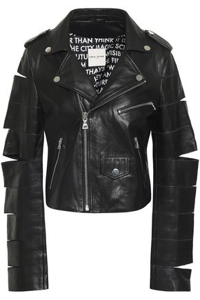 EACH X OTHER Cutout leather biker jacket