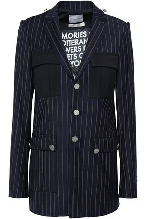 EACH X OTHER Pinstriped wool-twill blazer