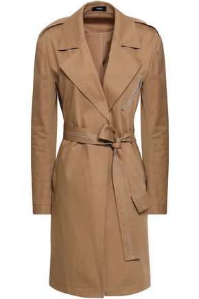 THEORY Cotton-blend gabardine trench coat