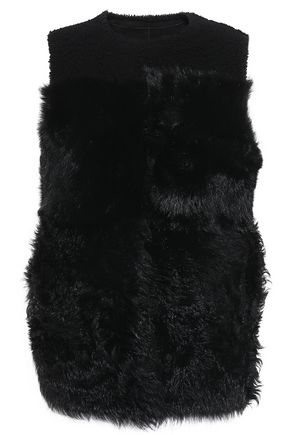 THEORY Reversible shearling gilet