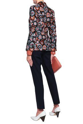 THEORY Floral-jacquard blazer
