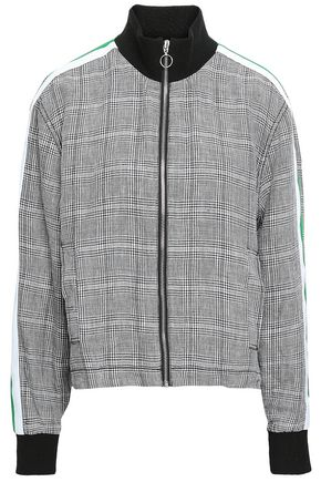 CURRENT/ELLIOTT Prince of Wales checked linen jacket