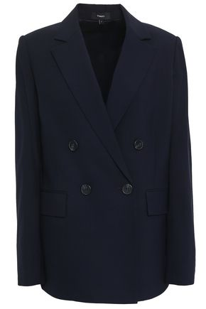 THEORY Piazza double-breasted stretch-wool blazer