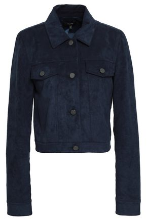 THEORY Fulton faux suede jacket