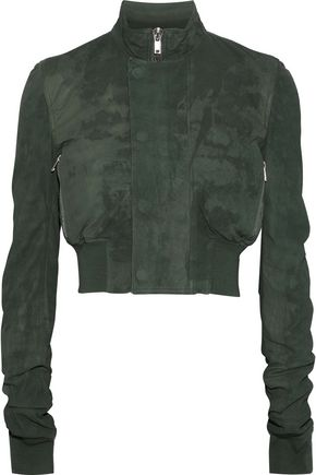 RICK OWENS Distressed suede jacket