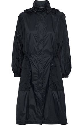 VINCE. Paneled shell hooded jacket