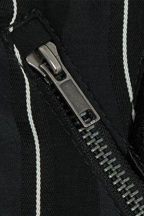 HAIDER ACKERMANN Grosgrain-trimmed striped jacquard bomber jacket