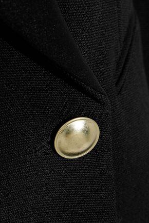 VICTORIA BECKHAM Double-breasted satin-trimmed grain de poudre wool blazer