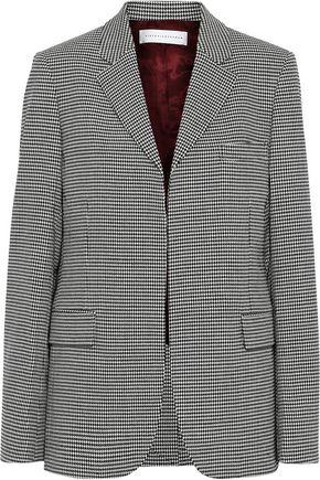 VICTORIA BECKHAM Houndstooth stretch-wool blazer
