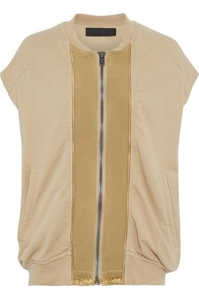 HAIDER ACKERMANN Grosgrain-trimmed French cotton-terry vest